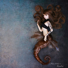 Weightless (pure_embers) Tags: pure embers laura england resin bjd sd doll dolls fairyland uk girl fairyline60 ria scarlett hybrid pureembers emberskendra kendra photography photo ball joint brown hair seahorse fantasy tattoos shallowsleepaesthetics underwater natural collector