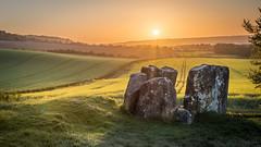 Neolithic Sunrise (Nathan J Hammonds) Tags: coldrun long barrow neolithic stones kent uk england tottiscliffe adscombe sunrise sun farm field landscape hdr rapeseed hills downs bracket spring morning nikon d750