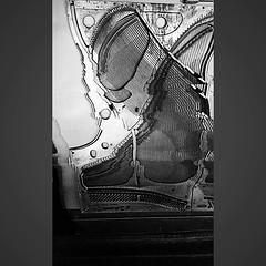 """Piano Warp"" (Paul Ewing) Tags: panoramaglitch piano blackandwhite carbon carbonapp distortion intentionalcameramovement panowhamma escalator escher escalators"