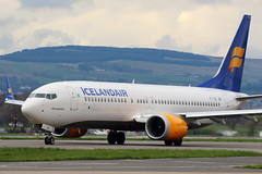 Icelandair MAX (TF-ICE) (Fraser Murdoch) Tags: icelandair boeing 737 max max8 b38m 38m b737 738 glasgow international airport egpf gla aircraft new aviation tfice tf ice fi scotland iceland canon eos 650d fraser murdoch photography jökulsárlón runway 05 taxi taxiway cloudy cloud summer spring plane aerplane