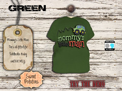 < SP > Mommy's Little Man_Green (Sweet.Potatoes) Tags: toddleedoo kids baby tee shirt boys brother son family daughter girls sister mothers day second life roleplay mommys little man vintage flowers