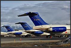 Everts Air Cargo Jet Tails (Bob Garrard) Tags: everts air cargo n930ce n932ce n73444 dc9 md82 anc panc mcdonnell douglas