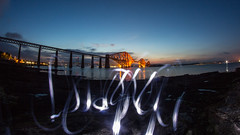 Forth Light (jonathan.scaife81) Tags: forth rail bridge fish eye wide long angle exposure 30 second river rokinon 8mm light trail canon 650d edinburgh scotland