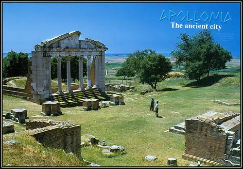 6438 R Apollonia Ruins The ancient city cen. IV.-III. B.C. Albania Shqiperia