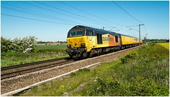 67027. 'Charlotte'. (Alan Burkwood) Tags: ecml eatonlane colas 67027 charlotte test train 67023 stella diesel locomotive