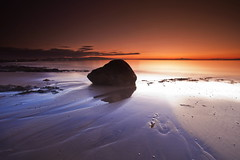 Evening Tones (PeterYoung1.) Tags: atmospheric beautiful blue beach colours clouds canon highlights landscape nature ocean orange peteryoung1 reflections rocks scenic scotland seascape sea scottish sunset twilight uk water