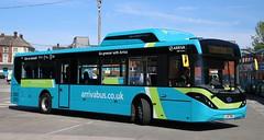 Arriva Merseyside Enviro 200EV 7010 LJ67DNX between duties at Green Lane Depot. (Gobbiner) Tags: arrivamerseyside 7010 adl enviro200ev arrivabus lj67dnx electricbus byd