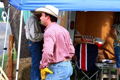 Cowboy doing iron work (miosoleegrant2) Tags: cowboy hat jeans iron male men hunk muscle masculine torso guy chested outdoor people sport husky burly strapping brawny chunky hefty festivals heritage blacksmithing blacksmith ironwork forge handforged forged artistatwork work artist artistsinaction hand crafted festival folklife texasfolklife texas tx sanantonio gloves jeanbutt butt