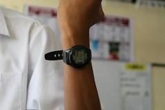Casio Watch in hand (Sasandu) Tags: casio watch hand f200 digital electronics sasandu garusinghe background illuminator