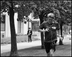 Pushing Hard (NickD71) Tags: panasonic lumix lx100 snapseed running jogging training exercise street candid greenwich peninsula park