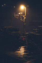 Foggy night at the docks in Maine (markmartucciphoto) Tags: foggy night docks maine markmartucciphotography equipment lobster traps