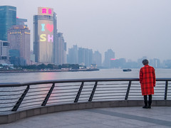 LR Shanghai 2016-926 (hunbille) Tags: birgitteshanghai6lr china shanghai zhongshanroad road zhongshan promenade huangpu river thebund bund the model skyline fence