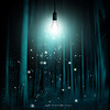 floating lights room (Dyrk.Wyst) Tags: lightbulb mood surreal composite forest trees dark sparkles illumination spooky dreamy cyan teal floating unreal conceptual fun abstract eerie