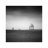 Going Home (Lindi m) Tags: dog shelter onemanandhisdog clouds stormy beach blackwhite folkestone minimalist coastal