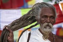 0736 No Hair Loss (Hrvoje Simich - gaZZda) Tags: man old wise holy sadhu eyes hair beard lumbini nepal asia nikon nikond750 nikkor283003556 gazzda hrvojesimich