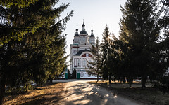 Monastery (Oleg.A) Tags: sunny landscape russia church nature spring old outdoor building evening dome cathedral exterior countryside colorful trinityscanovmonastery yellow narovchat gold monastery orthodox sunset architecture cross antique village penzaregion tree catedral convent golden landscapes outdoors sovkhoznarovchatskiy penzenskayaoblast ru