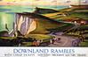 Downland Rambles (andreboeni) Tags: british railways poster railway railroad advert publicity advertisement period classic southdowns downland rambles rambling cliffs coastline road sea seascape landscape