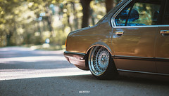 Denis E23 with new 3 piece wheels! (RHiensch) Tags: bmw e23 bahama beige bagged stance airlift performance 3h 3 piece wheels custom