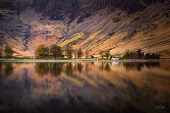 Back to Buttermere (Geoff Moore UK) Tags: buttermere reflection cumbria lake district mountain tree landscape road water sky grass