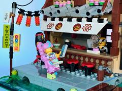 Ramen&Sushi Bar (SpaceBrick) Tags: lego moc creation ninjago city japan ramen sushi bar fishing movie minifig scale toy construction collectible