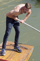Put Your Back Into It (MalB) Tags: punt punting cam shirtless pentax k5