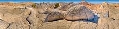 White Pocket Brainrock Panorama (William Horton Photography) Tags: arizona navajoformation navajosandstone nikon northcoyotebuttes page pariacanyon vermillioncliffs vermillioncliffswilderness whitepocket brainrock color geology geologypanorama outdoors sandstone scenic spring tan