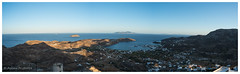 A panoramic view of Livadi at sunset (al3x!s) Tags: anthropic architecture cyclades d750 greece landscape nature nikkor24mm nikond750 outside panorama photo sea serifos sky travel water egeo gr