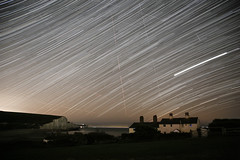 Shooting Stars (Ashley Hemsley) Tags: night nightsky skyline clear weather astrology stars startrail long exposure mulitple focus point movement motion canon 5d mark 3 seven sisters uk england south coastline east sussex dark beauty nature house cliff heritage flickr explore landscape nightscape skyscape color shooting time patience skies astrophotography