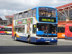 Stagecoach 18036 Mansfield (Guy Arab UF) Tags: stagecoach east midlands 18036 mx53flv transbus trident president mansfield bus station nottinghamshire buses