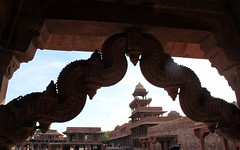 fatehpur sikri architecture (kexi) Tags: india asia uttarpradesh fatehpursikri architecture ancient old palace castle red sandstone abandoned history canon february 2017 akbar mughal