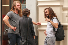 Negotiation (Mussi Katz) Tags: actor guys talking three negotiation myplaceyourplace longhair hair celebrity
