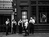 New Orleans. Waiting staff's smoke break (Time to try) Tags: louisiana usa us olympus mft neworleans smoking themoment snapshot apron waiter waitress