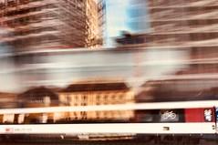 Reflection in Train Window (antionion) Tags: buildings cff ffs bluesky europaallee mainstation speed urbanphotography urban longexposure sbb reflection window train zürich