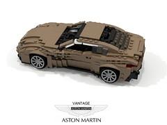 Aston Martin Vantage - 2018 (lego911) Tags: aston martin vantage 2018 coupe v8 turbo uk gb british supercar auto car moc model miniland lego lego911 ldd render cad povray 2010s amg