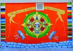 The Dead Do Not Speak They Just Listen (clarkcg photography) Tags: wall art paint dayofthedead scissortailflycatcher