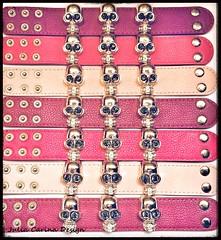 pink halálfejes szegecses karkötő julia carina design ékszer shop budapest (JÚLIA CARINA DESIGN) Tags: koponya halálfej julia carina design shop budapest jewelery shopping accessories karkötő bőr szegecses pink studded skull köves rhineshone bracey ékszer bizsu bolt üzlet egyedi kar