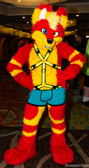 Ready to be Fab (SnapperGee) Tags: 2018 anthro anthropomorphic blfc biggestlittlefurcon furry fursuit sky husky cute adorable red yellow ear ears paw paws doggo doggy dog pup mutt