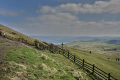 Mam Tor Fence (Bri_J) Tags: mamtor nationaltrust peakdistrict nationalpark derbyshire uk countryside nikon d7200 fence hdr clouds sky hill