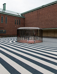Stripes and bricks (Agave Bear) Tags: 2015 boijmansvanbeuningen europe netherlands rotterdam courtyard museum