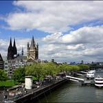 Blick von der Deutzer Brücke in Köln thumbnail
