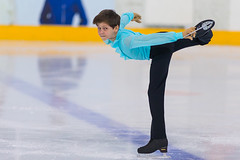 Minsk, Belarus –April 22, 2018: Male Figure Skater from Russia Nikita Bikeev Performs Cubs A Boys Free Skating Program at Minsk Arena Cup 2018 in April 22, 2018, in Minsk (DmitryMorgan) Tags: 1 2018 april22nd belarus minskarenacup nikitabikeev artistic athlete axel boy championship chasse competition crossover editorial figureskating ice iceskate iceskating international jump lady loop lutz male mohawk one perform pirouette salchow skates skating solo spin spiral sport toeloopjump turn twist twizzle young