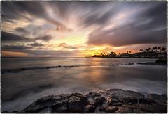Sunset @ PK's, Koloa, Kauai. (drpeterrath) Tags: canon eos5dsr 5dsr sunset weather clouds sun sky seascape ocean water rocks color outdoor naturallight poipu koloa kaui hawaii longexposure pacific landscape