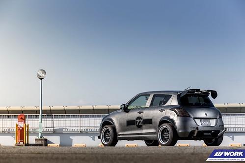 KRC MODIFIED Suzuki Swift on WORK Seeker GX - a photo on