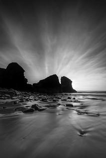Sea Stacks, Porthcotham Beach