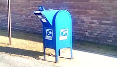 Mailbox! 365/196 (Maenette1) Tags: mailbox usps blue menomineemunicipalcomplex menominee uppermichigan flicker365 allthingsmichigan absolutemichigan project365 projectmichigan