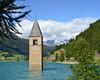 Campanile di Curon (njk1951) Tags: campaniledicuron campanile belltower trentinoaltoadige lake curonvenosta lagodiresia alpine mountains ancienttower italy italia