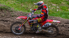 Riding A Red Honda (John Kocijanski) Tags: red motorcycle motocross vehicle race sport dirtbike people canon70300mmllens canon7d