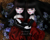 Shhh (pure_embers) Tags: pure embers resin bjd doll dolls uk england girl souldollsweet souldoll sweet isla pureembers emberslottietilly twins lottie tilly white skin story photography photo ball joint gothic dark twin girls tree red dress laura flowers hug