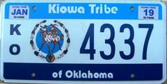 Kiowa Tribe Flat License Plate (Suko's License Plates) Tags: kiowa indian license plate indiantribeslicenseplates triballicenseplates licenseplate matricula placa patente kennzeichen nummerschild targa targhe plaqueimmatriculation plaque numbertag tribe tribal nation native band nativeamericanindians