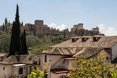 Alhambra, Granada (Adrià Páez) Tags: alhambra granada andalucia spain españa andalucía europe architecture muslim islamic roofs houses trees oranges sky clouds vegetation wall canon eos 7d mark ii